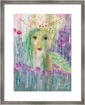 Framed Print featuring the painting March by Julie Engelhardt