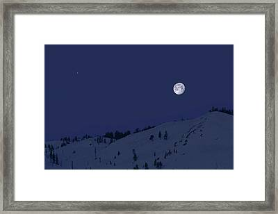 Framed Print featuring the photograph March Moon With Jupiter by Donna Kennedy