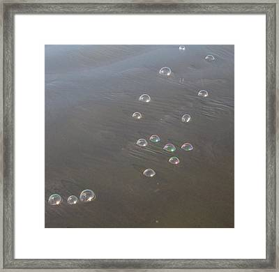 March Of The Bubbles Framed Print by Marie Neder