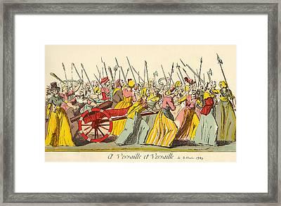 March Of The Poissardes, Or Market Framed Print by Vintage Design Pics