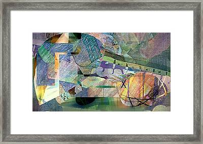March On Abstract Framed Print by Dawn Pearce