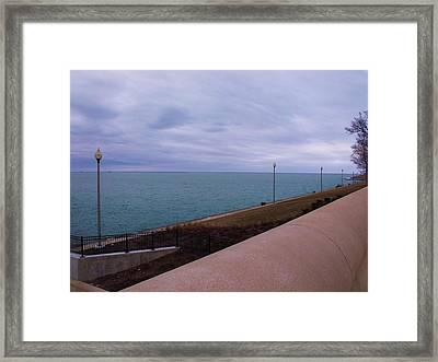 March On Lake Michigan Framed Print by Anna Villarreal Garbis