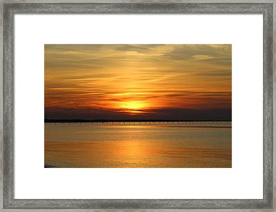 March Sunset Framed Print