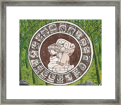 March  The Mayan Calendar Framed Print