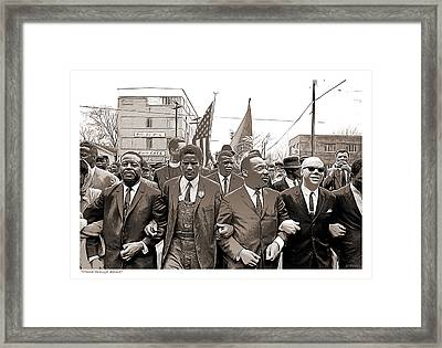 March Through Selma Framed Print by Greg Joens