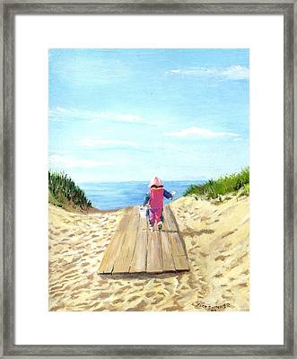 March To The Beach Framed Print