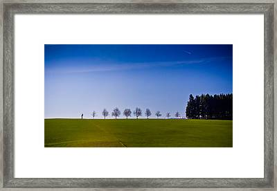 March To The Forest Framed Print