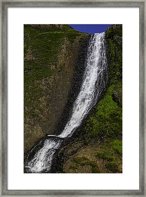 March Waterfall Framed Print