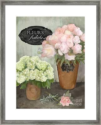 Marche Aux Fleurs 2 - Peonies N Hydrangeas Framed Print