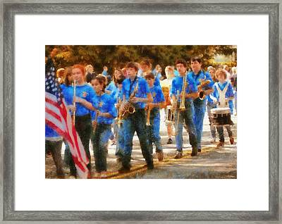 Marching Band - Junior Marching Band  Framed Print by Mike Savad