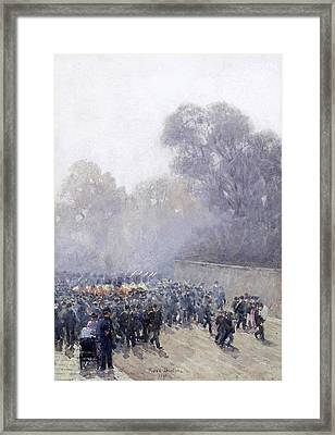 Marching Band And Crowd Framed Print by MotionAge Designs