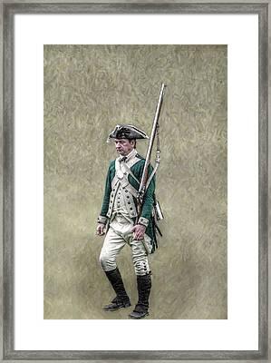 Marching Loyalist Soldier Revolutionary War Framed Print by Randy Steele