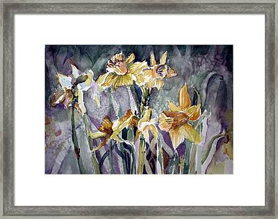 March's First Blossoms Framed Print by Mindy Newman