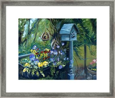 Marcia's Garden Framed Print