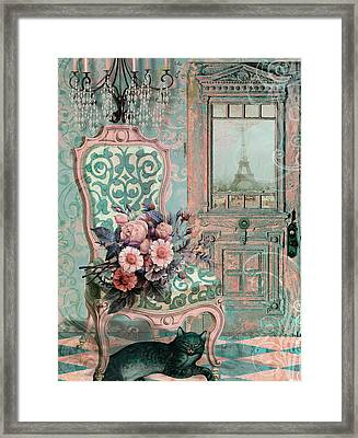 Marcie In Paris Framed Print by Mindy Sommers