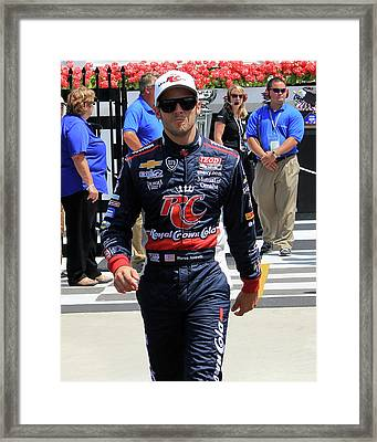 Marco Andretti - 2 Framed Print by Mark A Brown