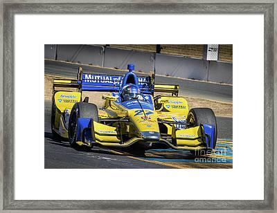 Marco Andretti Framed Print by Webb Canepa
