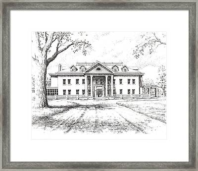 Marcus Daly Mansion Hamilton Montana Framed Print by Kevin Heaney