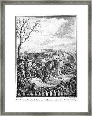 Marcus Furius Camillus Framed Print by Granger