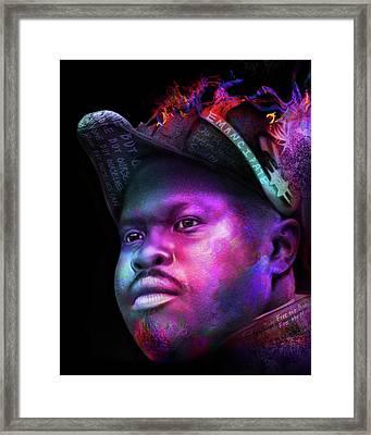 Marcus Garvey Portrait Framed Print