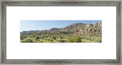 Marcus Landslide - Brian Gootee Hike Framed Print