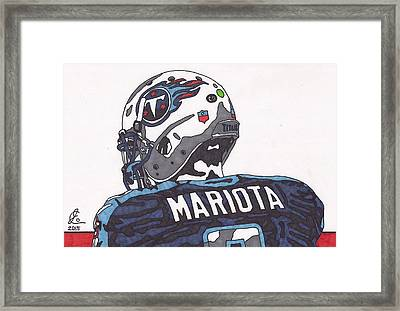 Marcus Mariota Titans 2 Framed Print by Jeremiah Colley
