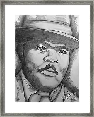 Marcus Mosia Garvey Jr Framed Print by Collin A Clarke