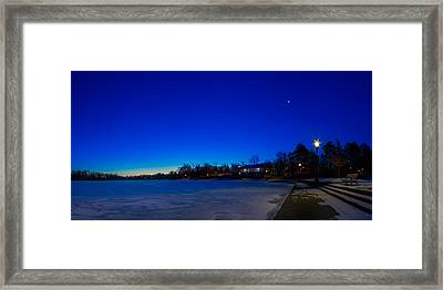 Framed Print featuring the photograph Marcy Casino Winter Twilight by Chris Bordeleau