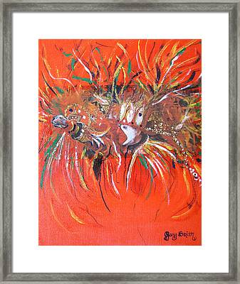 Framed Print featuring the painting Mardi Gras 2 by Gary Smith