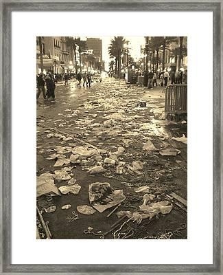 Mardi Gras 2010 Aftermath Framed Print by Veronica Trotter