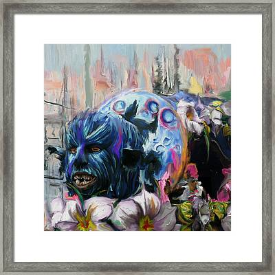 Mardi Gras 236 1 Framed Print by Mawra Tahreem