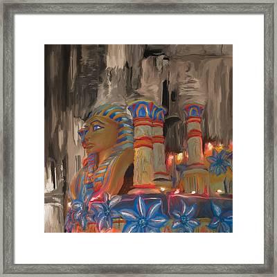 Mardi Gras 238  Framed Print by Mawra Tahreem