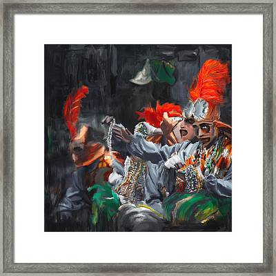 Mardi Gras 242 4 Framed Print by Mawra Tahreem