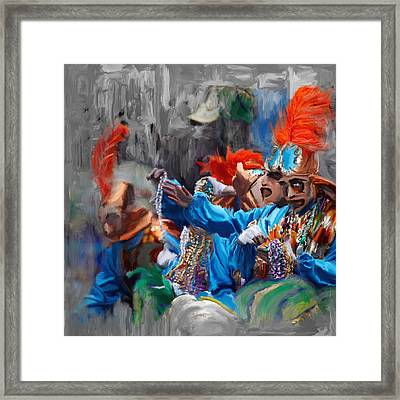 Mardi Gras 242  Framed Print by Mawra Tahreem