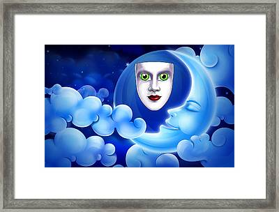 Mardi Gras At Night Framed Print