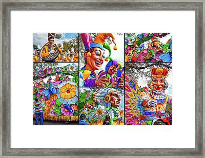 Mardi Gras Collage - Let The Good Times Roll 2 Framed Print