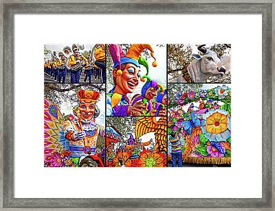 Mardi Gras Collage - Let The Good Times Roll Framed Print