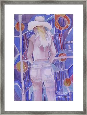 Mardi Gras Cowgirl Framed Print