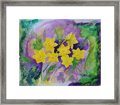 Mardi Gras Daffodils Framed Print