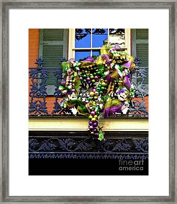 Mardi Gras Decor 1 Framed Print