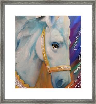 Mardi Gras Horse Framed Print