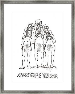 Framed Print featuring the drawing Mardi Gras II by R  Allen Swezey