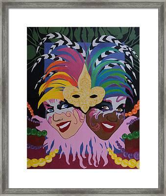 Mardi Gras In Colour Framed Print