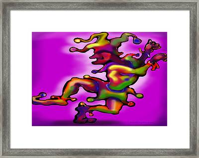 Framed Print featuring the painting Mardi Gras Jester by Kevin Middleton
