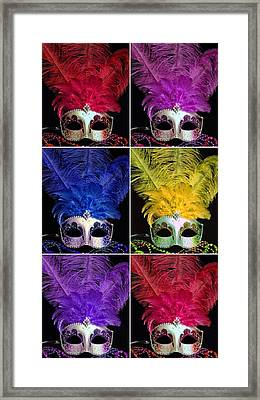 Mardi Gras Mask Collage 2 Framed Print