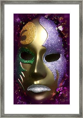 Mardi Gras Mask Framed Print by Debra Forand