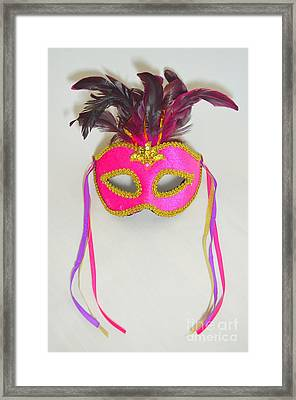 Mardi Gras Mask No 1 Framed Print by Mary Deal