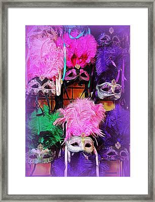 Mardi Gras Masks Framed Print