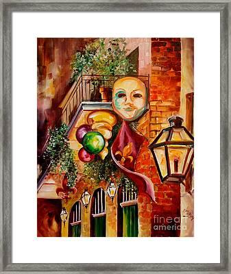 Mardi Gras Night Framed Print by Diane Millsap