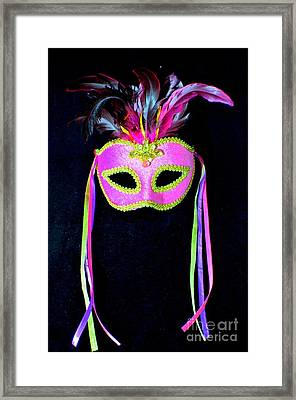 Mardi Gras No 3 Framed Print by Mary Deal